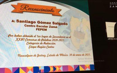 Alumnos Zamá, ganadores nuevamente en concurso regional de la Palabra.
