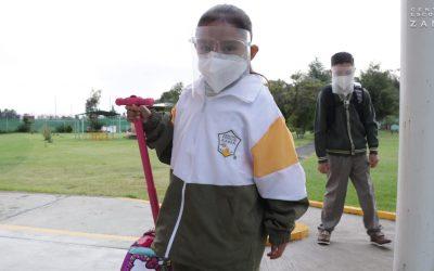 Regresan a aulas seguras estudiantes Zamá